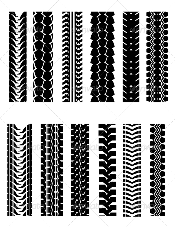 GraphicRiver Set of Tire Shapes 3704689
