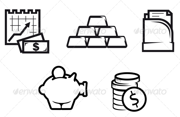 GraphicRiver Finance and Economics Symbols 3704695