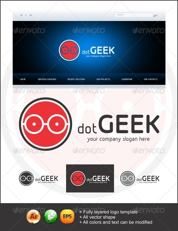 GraphicRiver dot Geek Logo 3656677
