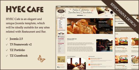 ThemeForest HYEC Cafe Restaurant Joomla Template 3683554