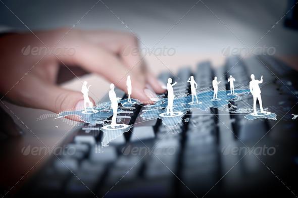 PhotoDune Computer keyboard and social media images 3706053