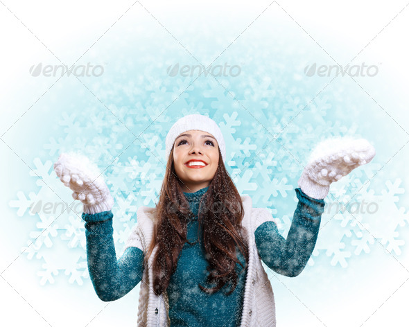 PhotoDune Young woman wearing warm sweater 3706054