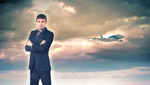 PhotoDune Business travelling collage with a plane 3706072