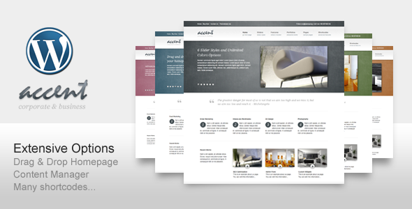 ThemeForest Accent Clean WP for Business Corporate Portfolio 238300