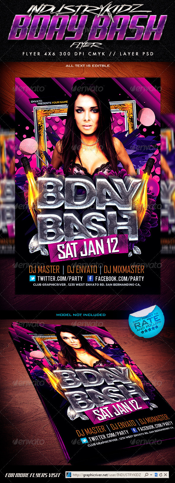 Birthday Bash Flyer Template - Clubs & Parties Events