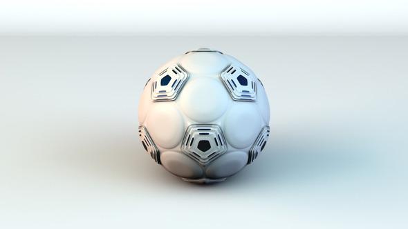 3DOcean Hexo Soccer Ball White Black 3705948