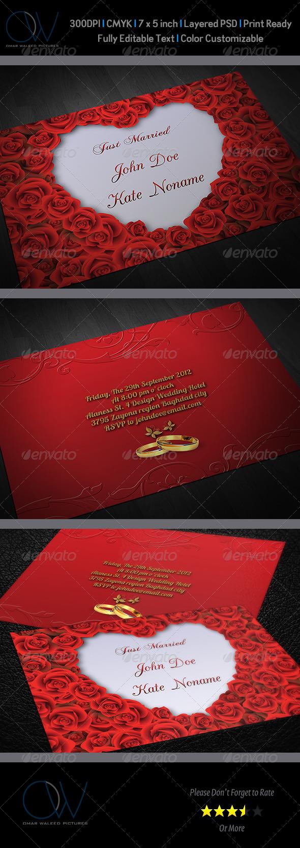GraphicRiver Wedding Invitation Vol.5 3705956