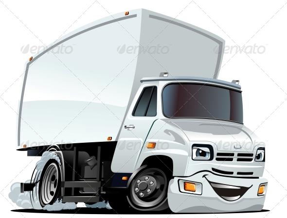 GraphicRiver Vector Cartoon Cargo Truck 3706021