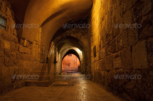 Old jerusalem streets - Stock Photo - Images