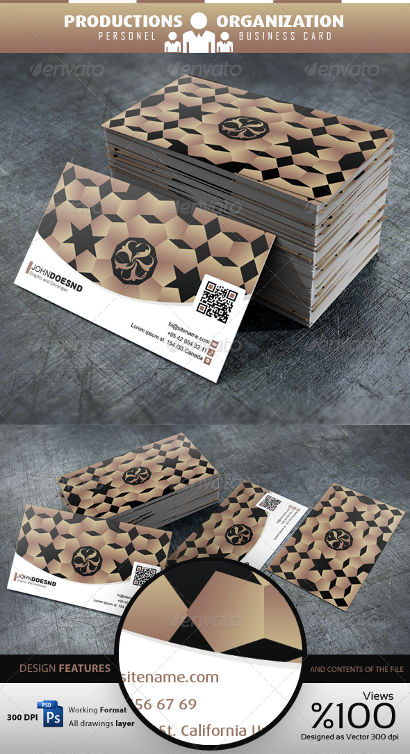 GraphicRiver Productions Organization Personel Business Card 3608703