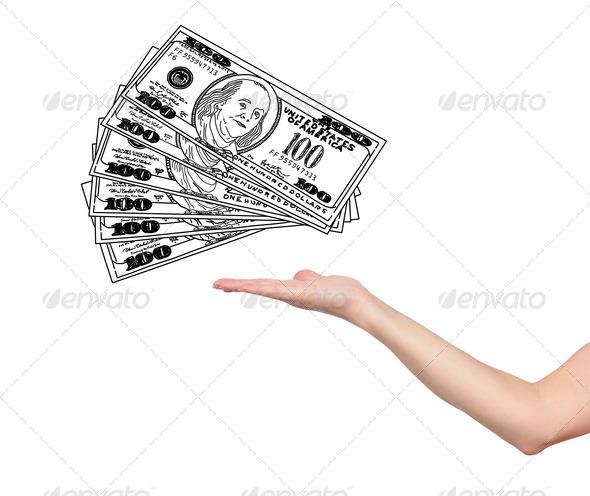 PhotoDune hand and dollars 3706993