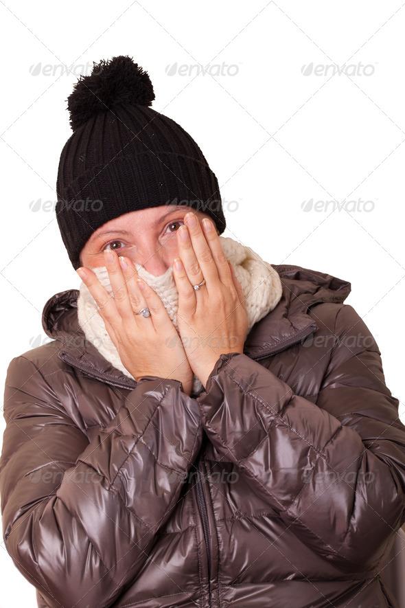 PhotoDune Woman Having Cold 3706580