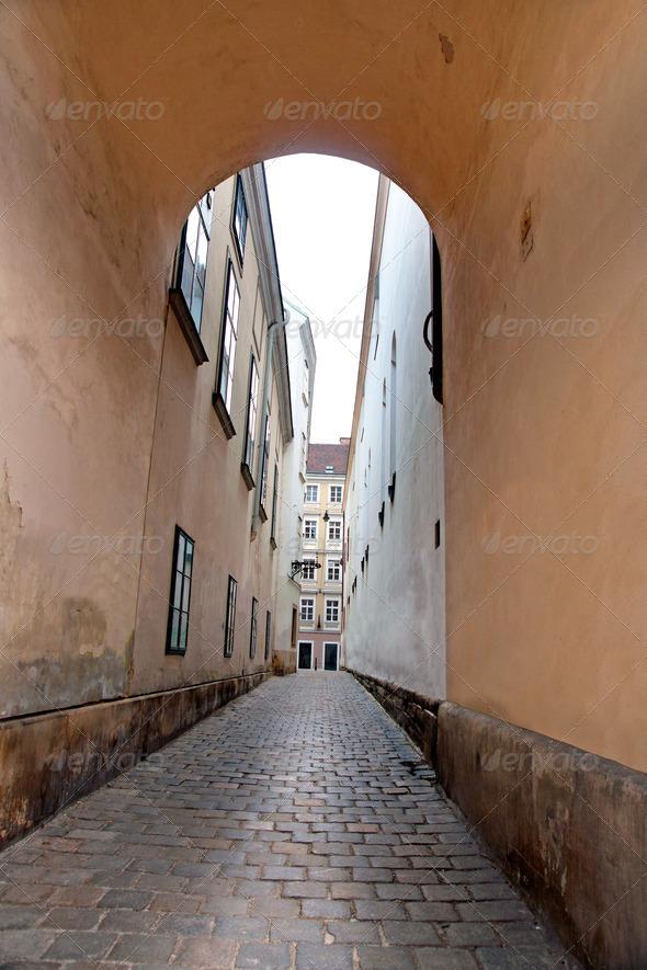 PhotoDune Narrow street in Vienna 3706700