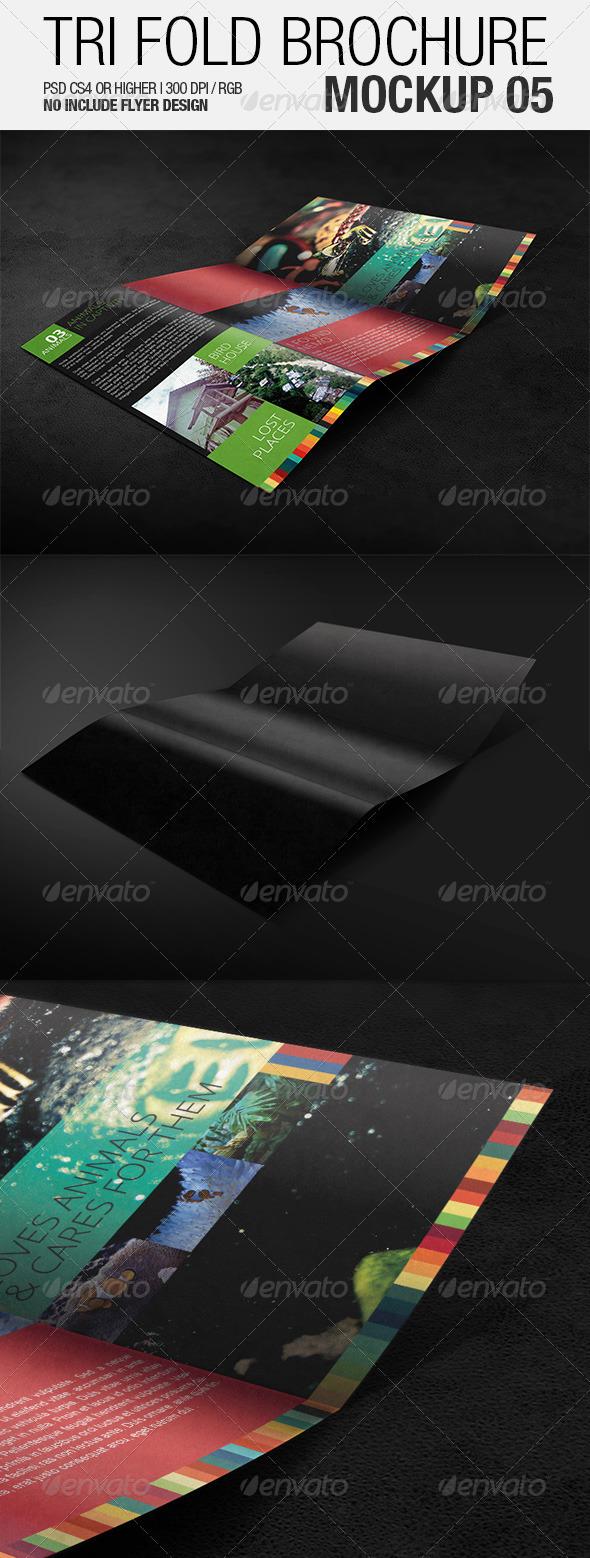 Tri Fold Brochure Mockup 05 - Brochures Print