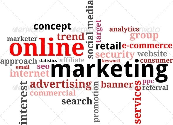 word cloud - online marketing - Stock Photo - Images
