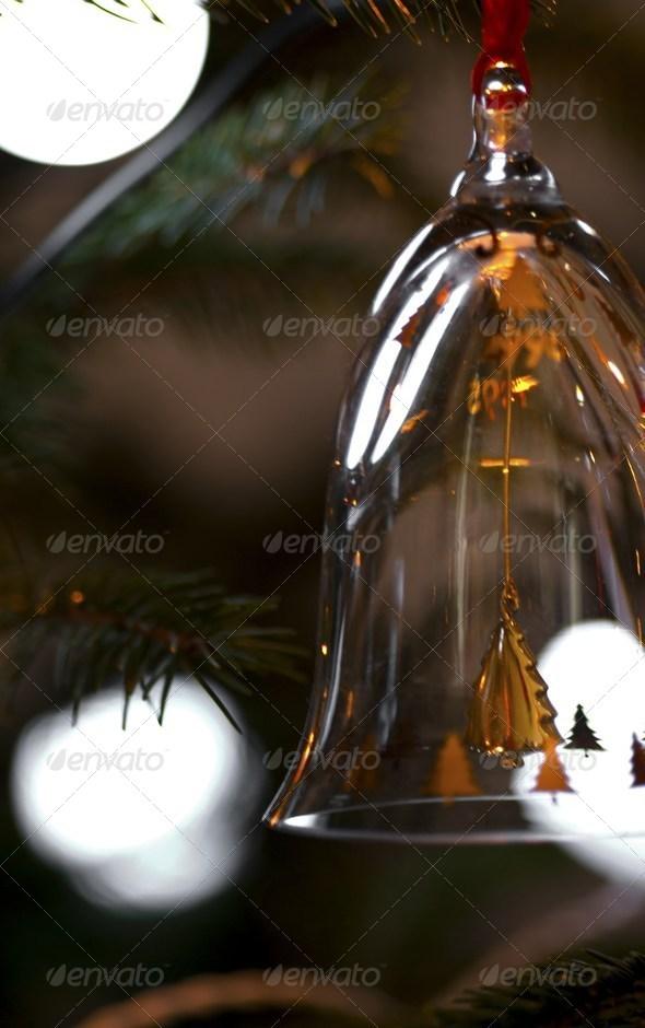 PhotoDune Christmas bell in glass 3707082