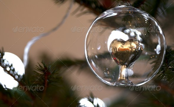 Christmas ball in glass - Stock Photo - Images