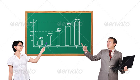 growth chart on desk - Stock Photo - Images