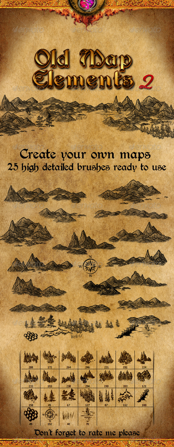 GraphicRiver Old Map Elements 2 3707703