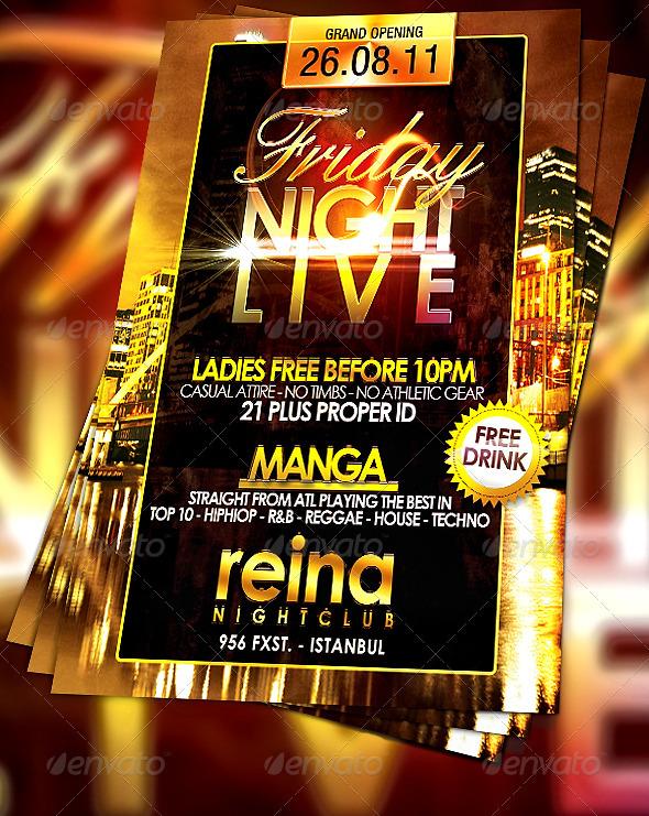 GraphicRiver Nightclub Flyer 232673