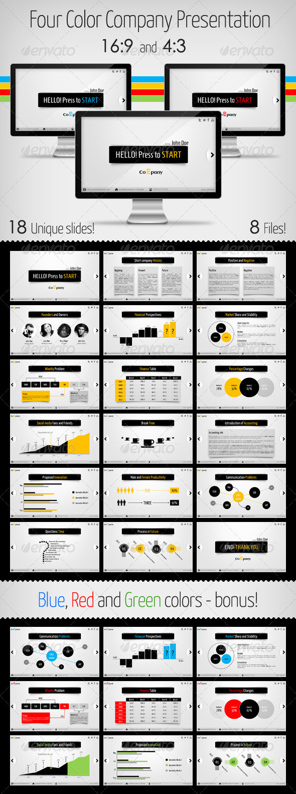 GraphicRiver Clean and Modern Company Presentation 3709247