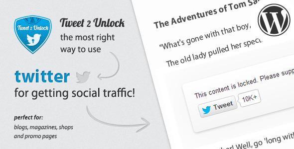 CodeCanyon Tweet 2 Unlock for Wordpress 3343506