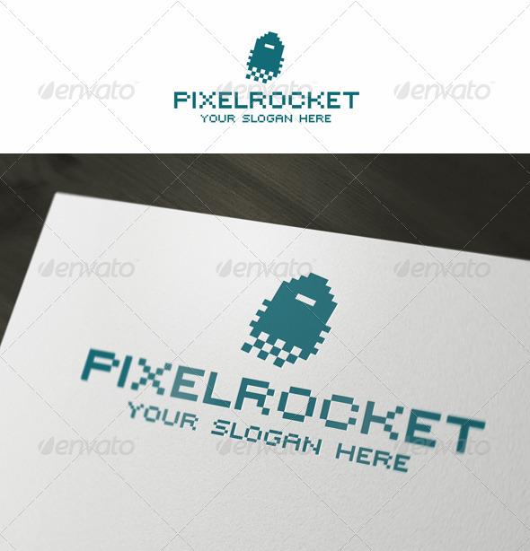 GraphicRiver Pixel Rocket Logo 3666992