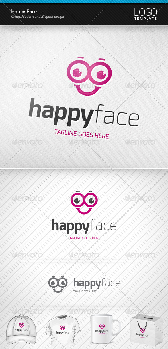 GraphicRiver Happy Face Logo 3709751