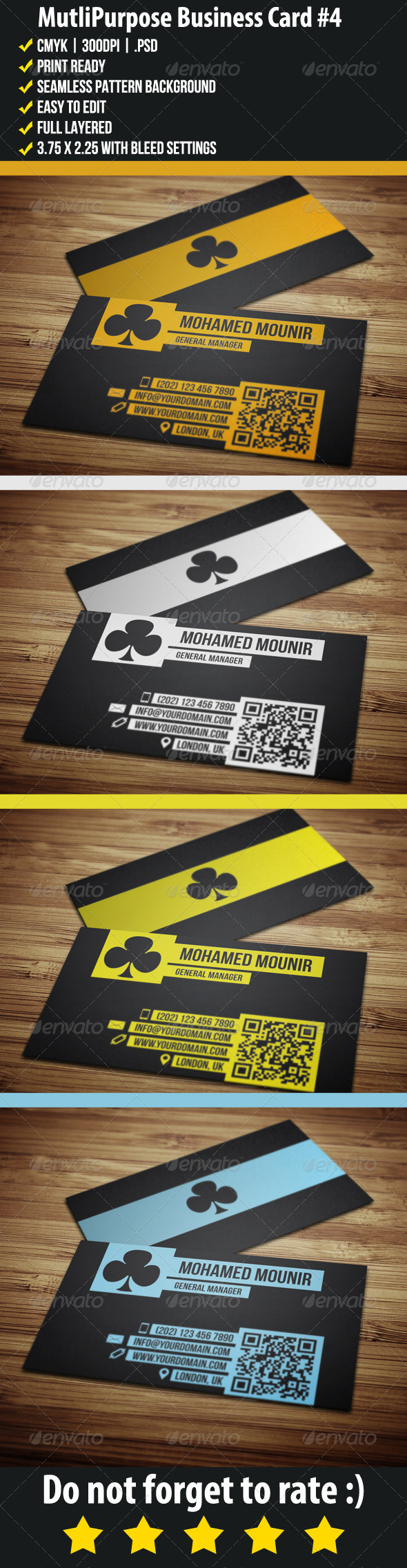 GraphicRiver Multipurpose Business Card 4 3709808