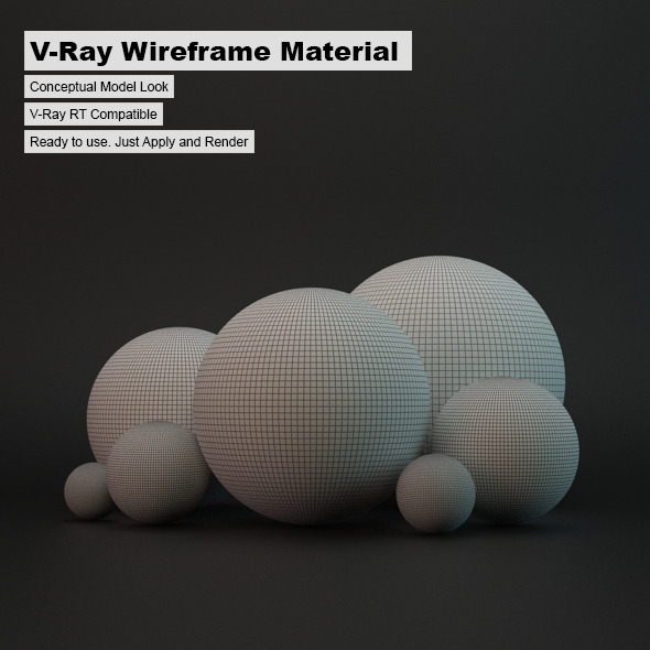 3DOcean V-Ray Wireframe Material 3709828