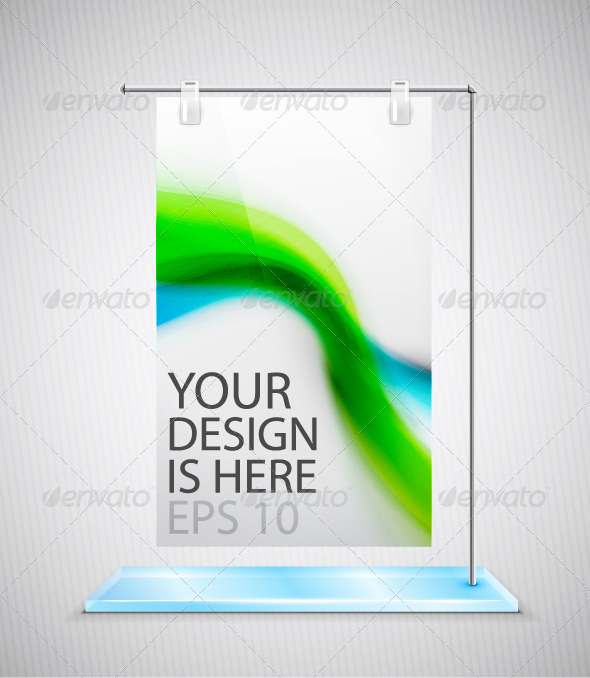 GraphicRiver Vector Promotion Stand 3709844