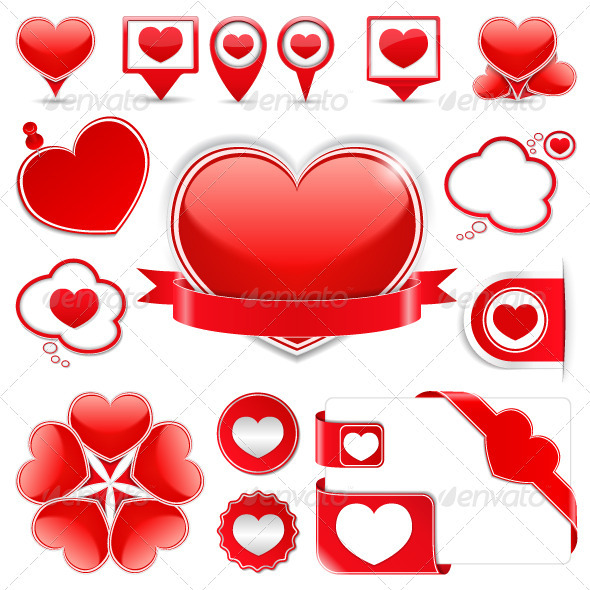 Design Elements with Hearts