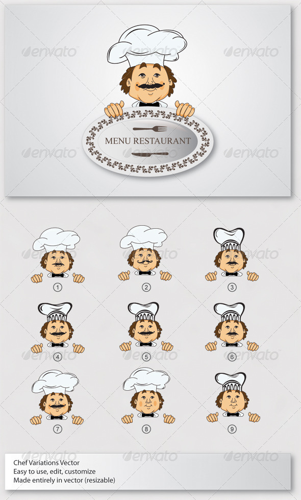 GraphicRiver Chef Mascot Vector 3710614