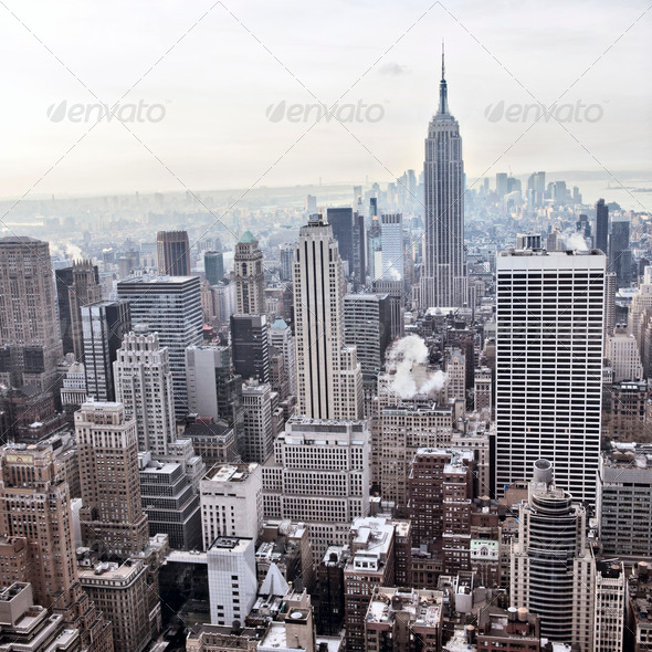 PhotoDune New York City skyline view from Rockefeller Center New York USA 399324