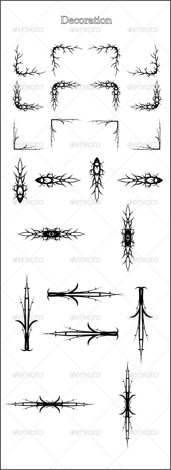 GraphicRiver 24 Brushes Decoration 3711943