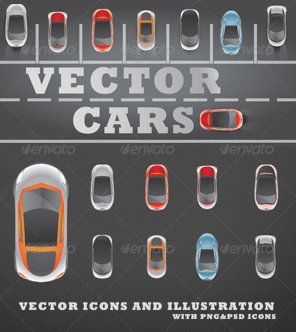 GraphicRiver Vector Cars 3712632