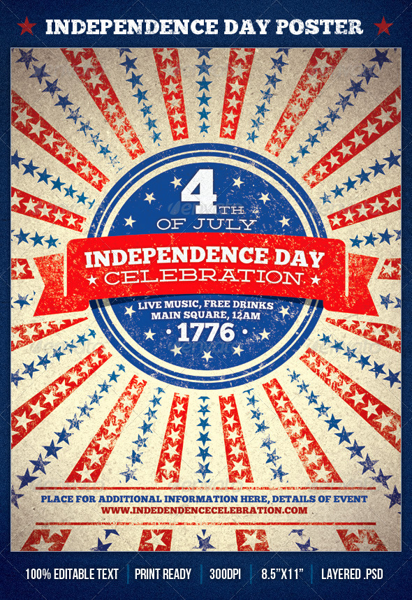 GraphicRiver Independence Day Celebration Poster 3712963