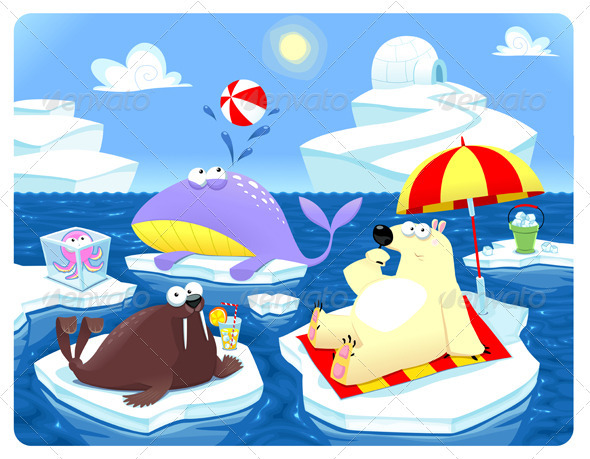 GraphicRiver Summer or Winter at the North Pole 3712979