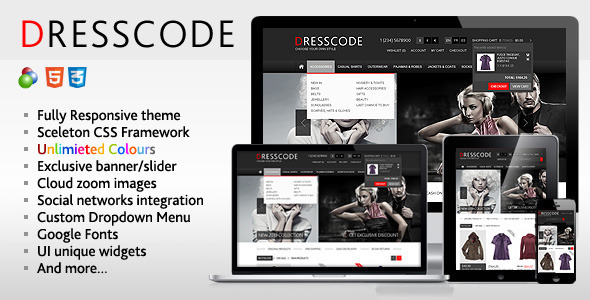 Dresscode - Responsive osCommerce Theme Download