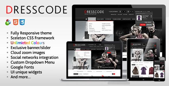 ThemeForest Dresscode Responsive osCommerce Theme 3713862