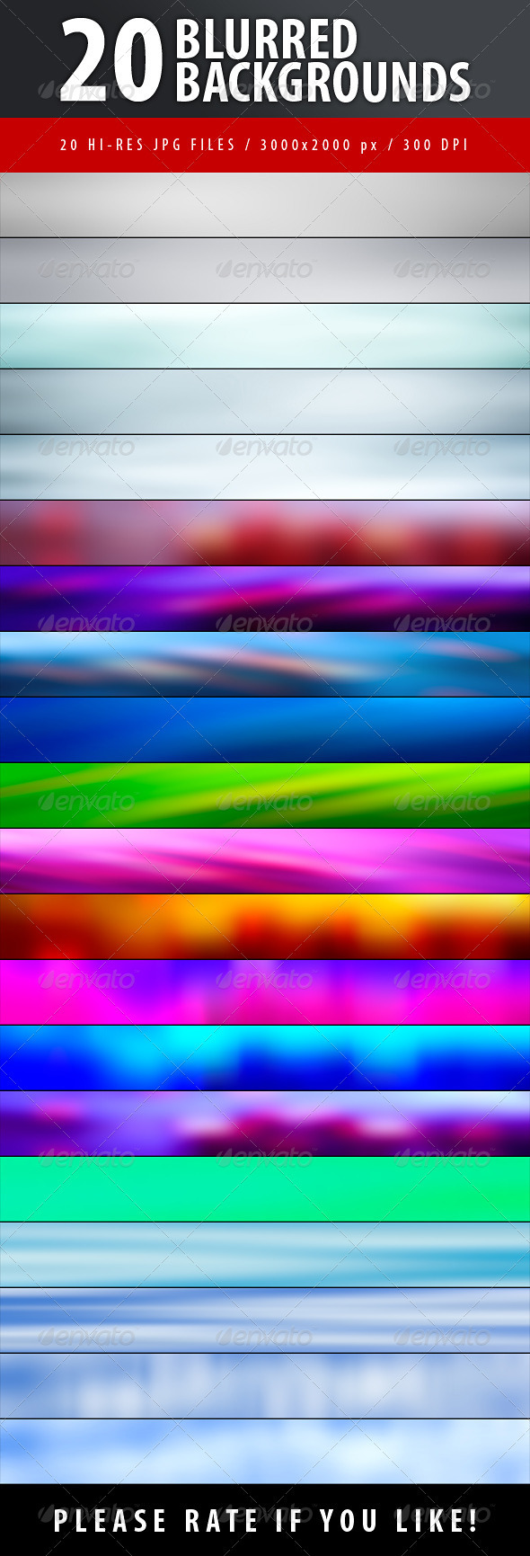 20 Blurred Backgrounds - Abstract Backgrounds