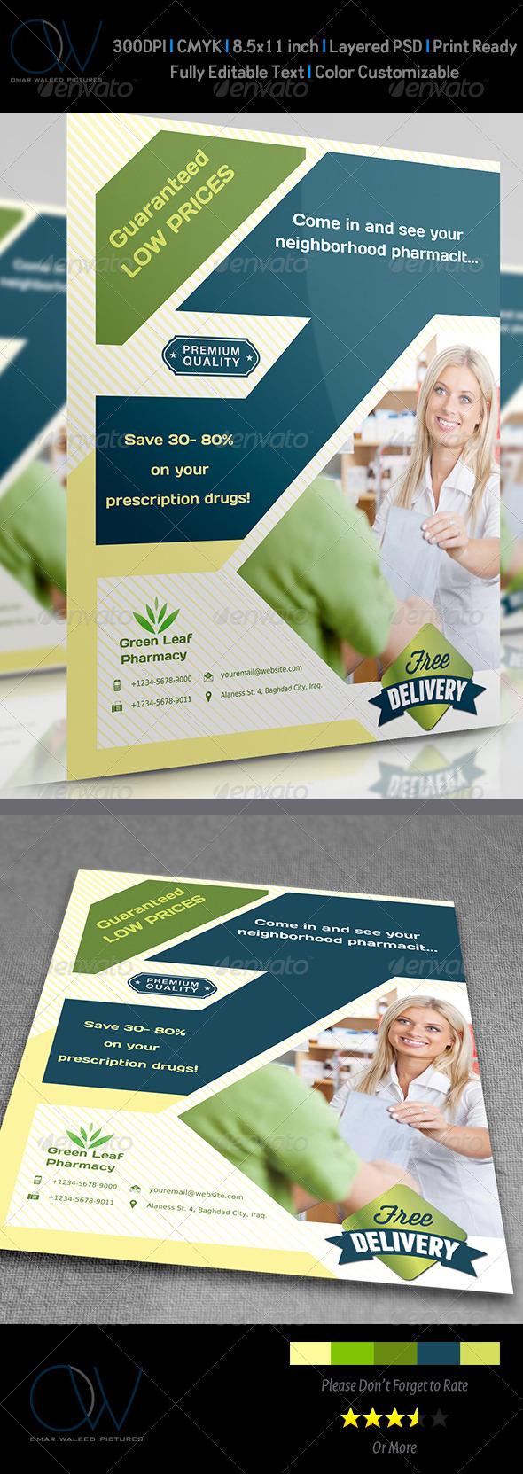GraphicRiver Pharmacy Flyer 3714098