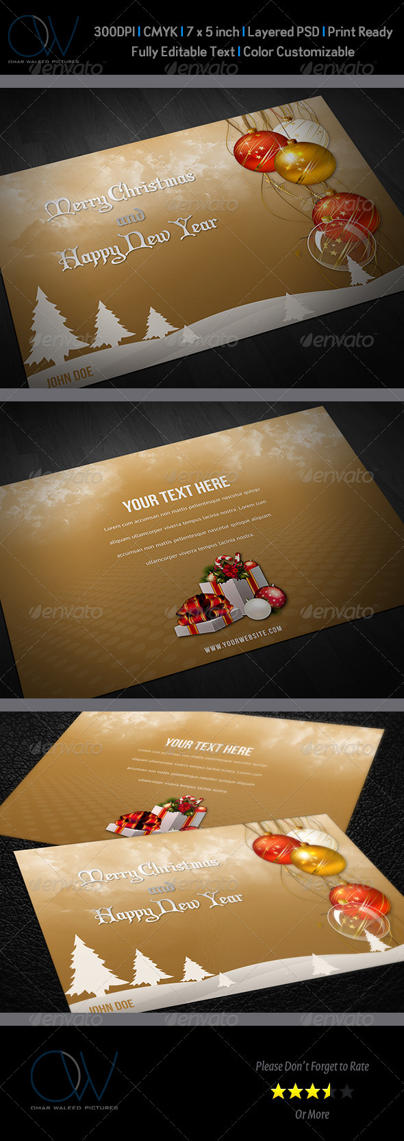 GraphicRiver Christmas and New Year Greeting Card Vol.2 3648078