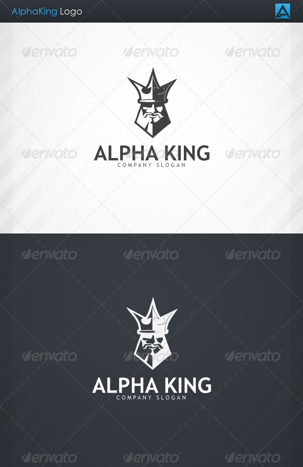 GraphicRiver AlphaKing Logo 3271108
