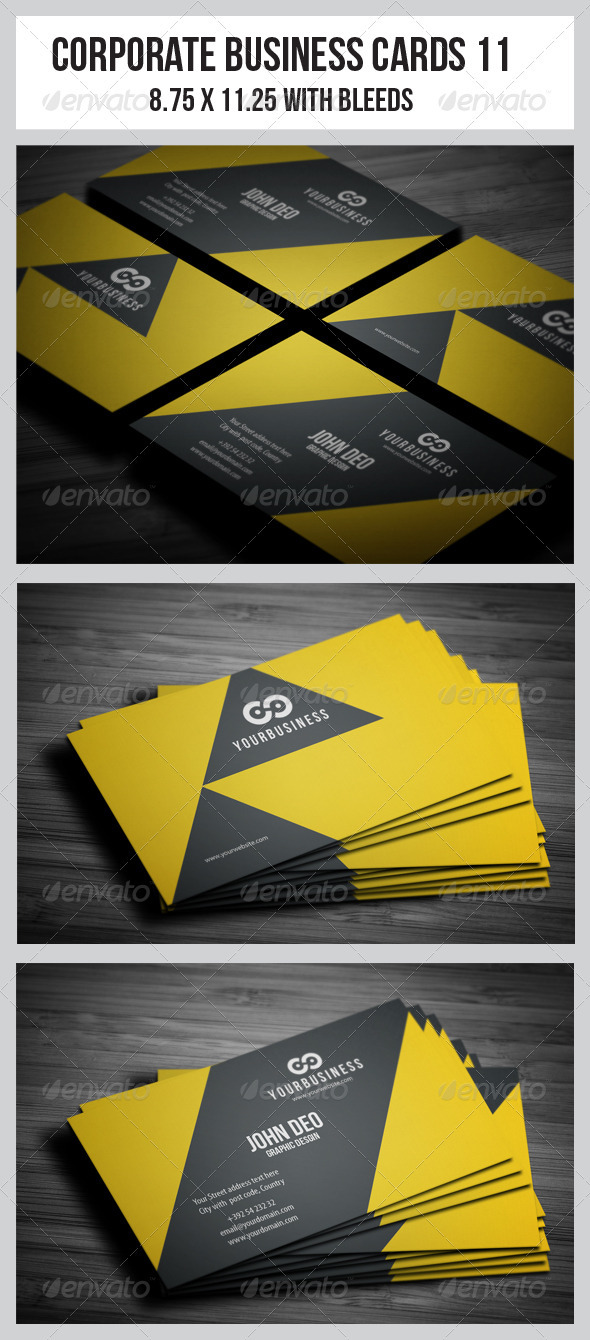 GraphicRiver Corporate Business Cards 11 3714452