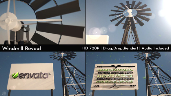 VideoHive Windmill & Sign Reveal 3714500