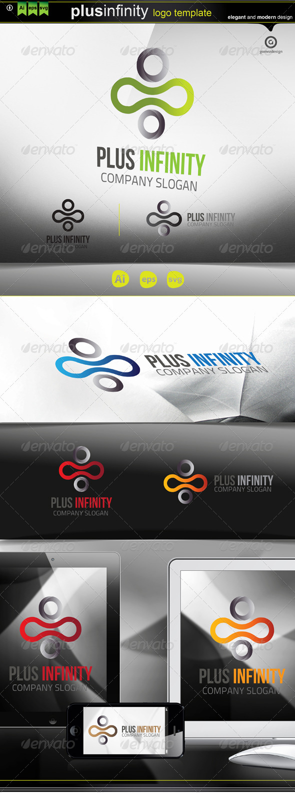 GraphicRiver Plus Infinity Logo 3714658