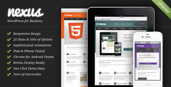 ThemeForest Nexus Responsive Business WordPress Theme 2572585