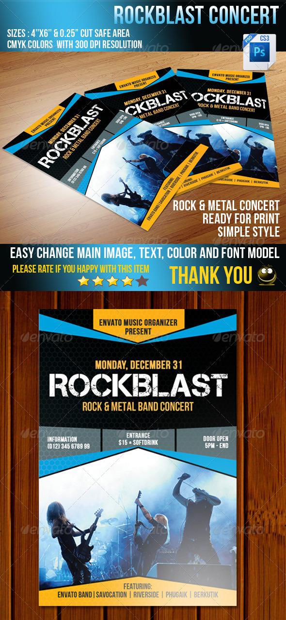 GraphicRiver Rockblast Flyer 3714968