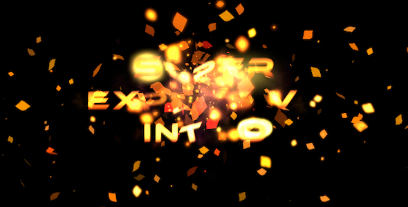 Explosive for Custom video intro templates